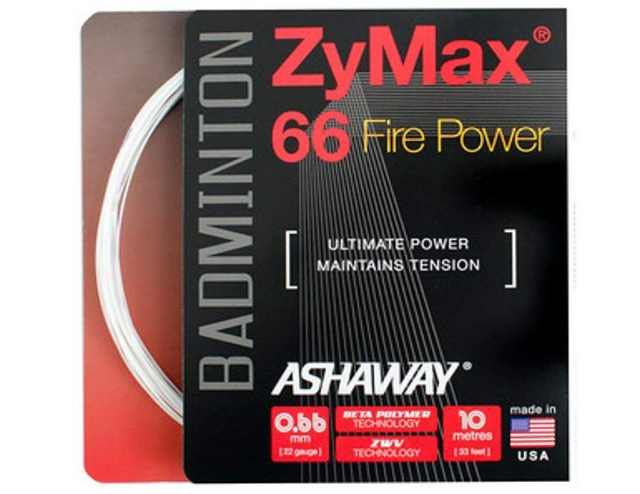 ASHAWAY ZyMax 66 Fire Power Badminton String Set