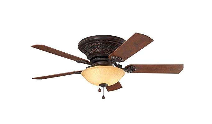 Harbor Breeze Lynstead 52-in Bronze LED Indoor Flush mount Ceiling Fan