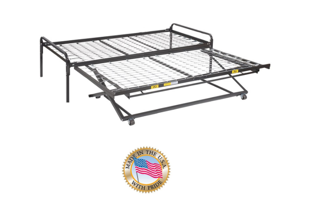 Twin Size Dark Black Metal Day Bed